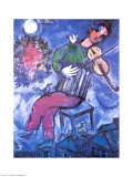 Violoniste Bleu Posters by Marc Chagall