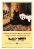 Whisky scozzese bianco e nero Poster