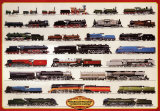 Train Steam Locomotives - Poster