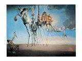 La tentazione di Sant'Antonio Poster di Salvador Dalí