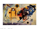 Yellow, Red and Blue, c.1925 Print by Wassily Kandinsky
