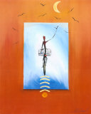 Biking in the Moonlight Posters av Gockel, Alfred