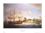 Approaching Calcutta, 1804 Prints by Thomas Whitcombe