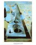 Erscheinung des Gesichts der Aphrodite von Knidos in einer Landschaft Poster von Salvador Dalí