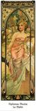 Mattino Poster di Alphonse Mucha