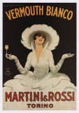 Martini Rossi Vermouth Bianco Julisteet