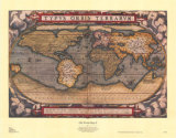Old World Map II Art by Abraham Ortelius