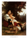 Mother and Children Posters by William Adolphe Bouguereau