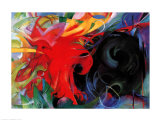 Fighting Forms Arte por Franz Marc