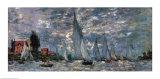 Regatta i Argenteuil Plakater av Claude Monet