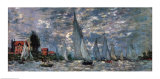 Regatta ved Argenteuil  Posters af Claude Monet