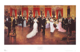 Evening Soiree Poster by Jean B&#233;raud