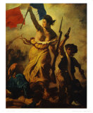 Die Freiheit f&#252;hrt das Volk an Poster von Eugene Delacroix