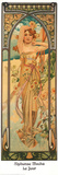 Tagesgesch&#228;ftigkeit Kunstdrucke von Alphonse Mucha