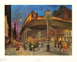 Sixth Avenue Elevated at Third Street, 1928, Art Print