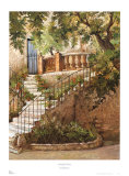 Courtyard in Provence Print by J. Duvall