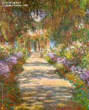 Jardin &#224; Giverny Affiches par Claude Monet