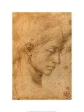 Weiblicher Kopf im Profil Kunstdrucke von  Michelangelo Buonarroti