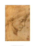 Testa Femminile di Profilo Prints by Michelangelo Buonarroti 