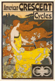 American Crescent Cycles Art by Ramsdell 