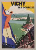 Vichy, Ses Soursec Art by Roger Broders