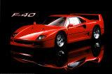 Ferrari F40 Kunstdruck