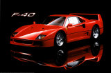 Ferrari F40 - Poster