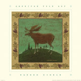 Folk Moose Poster by Warren Kimble