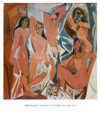 Les Demoiselles d'Avignon, circa 1907 Poster di Pablo Picasso