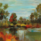 Hidden Pond Hues I Print by Silvia Vassileva