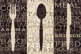 Couverts – Mots de la cuisine Art par Pela Studio
