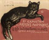 Katt Affischer av Théophile Alexandre Steinlen
