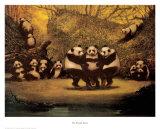 Tanzende Pandas Poster von  Schwedler
