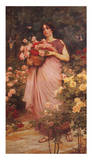 In a Garden of Roses Posters by Ford Madox Brown