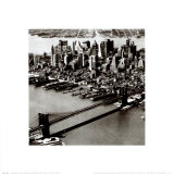Manhattan and the Brooklyn Bridge, New York City Prints