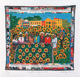 The Sunflower's Quilting Bee at Arles Édition limitée par Faith Ringgold