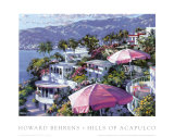 Hills of Acapulco Prints by Howard Behrens