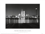 New York Skyline at Night Prints by Ralph Uicker