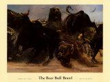 Rauferei zwischen Bären und Bullen Kunst von Adrian De Rooy