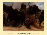 Bear Bull Brawl Art by Adrian De Rooy