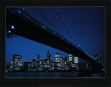 Manhattan Skyline and Brooklyn Bridge Posters