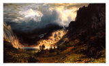 Storm in the Rocky Mountains Poster by Albert Bierstadt