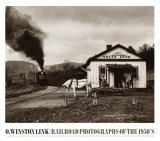 Maud hace una reverencia al tren Láminas por O. Winston Link