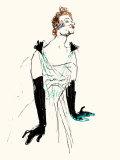 Yvette Guilbert (EL) Affiches par Henri de Toulouse-Lautrec
