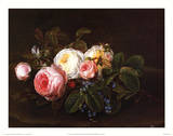 Still Life with Roses and Forget Kunstdrucke von Christopher Eckersberg