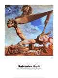 Construction molle avec haricots bouillis Poster par Salvador Dalí