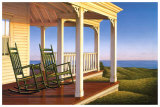 Twilight on the Veranda Print by Daniel Pollera