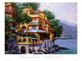 Portofino Villa Poster by Howard Behrens