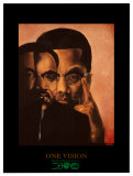 One Vision, Malcolm X and Martin Luther King Jr. Poster by Bernard Stanley Hoyes
