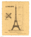 Le Tour Eiffel, Paris, France Prints by Yves Poinsot